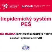 Ministerstvo zdravotnictví představilo protiepidemický systém (PES)