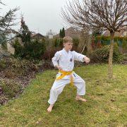 Desetiletý Filip Mach cvičí Okinawa Shorin-ryu Karate a pravidelně získává medaile